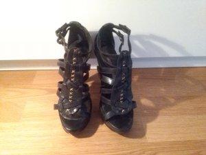 Buffalo London Platform High-Heeled Sandal black leather