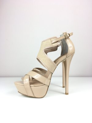 Buffalo London Plateau High Heels Pumps Absatzschuhe Gr. 39,5 Nude