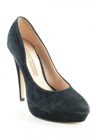 Buffalo London Plateau-Pumps dunkelblau Elegant