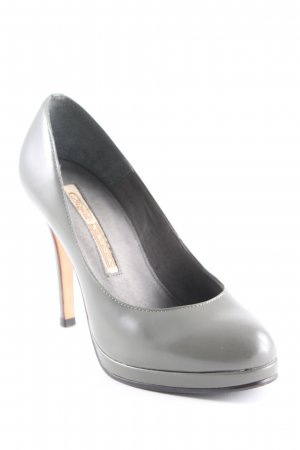 Buffalo London Plateau-Pumps grüngrau Business-Look
