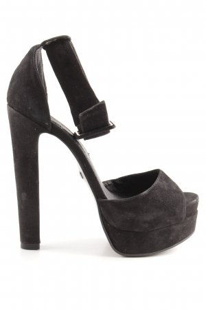 Buffalo London Plateau-Pumps schwarz extravaganter Stil