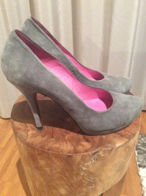 Buffalo London Plateau Pumps Wildleder grau Gr.38