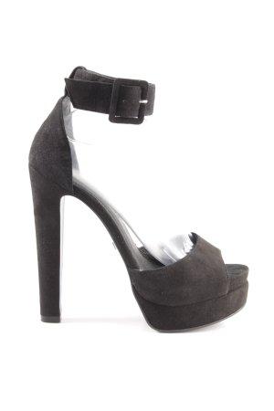 Buffalo London Platform High-Heeled Sandal black elegant