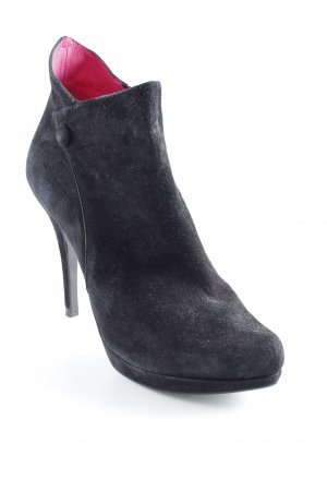 Buffalo London Plateau-Stiefeletten schwarz-magenta schlichter Stil