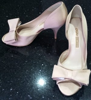 Buffalo London Pumps Highheels Peeptoes rose rosa nude mit Schleife 38 neu