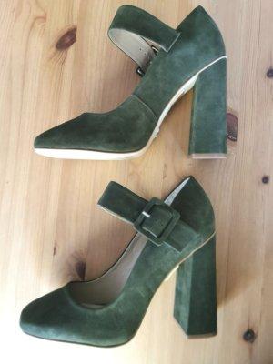 Buffalo London Mary Jane pumps bos Groen-khaki