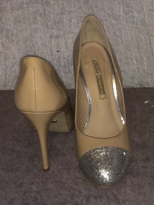 Buffalo London pumps nude glitter