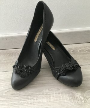 Buffalo London Pumps schwarz Leder Gr 38