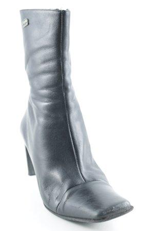 Buffalo London Reißverschluss-Stiefeletten schwarz Business-Look