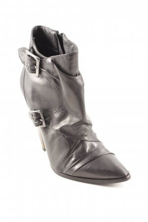 Buffalo London Reißverschluss-Stiefeletten schwarz-graubraun Elegant