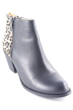 Buffalo London Bottines à fermeture éclair noir motif léopard