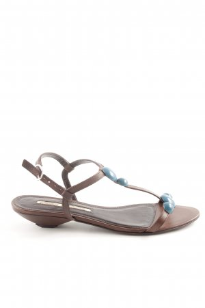 Buffalo London Riemchen-Sandalen braun-blau Casual-Look
