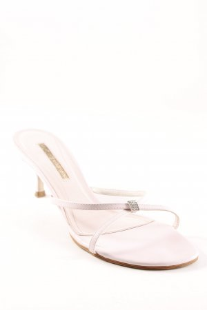 Buffalo London Strapped High-Heeled Sandals dusky pink simple style