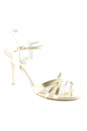 Buffalo London Strapped High-Heeled Sandals gold-colored extravagant style