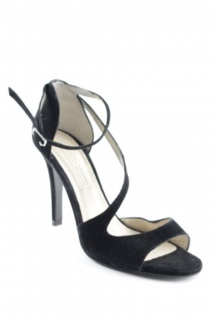 Buffalo London Strapped High-Heeled Sandals black-cream romantic style