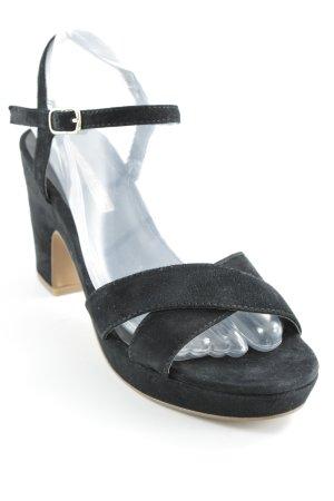 Buffalo London Strapped High-Heeled Sandals black elegant