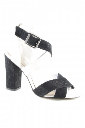 Buffalo London Strapped High-Heeled Sandals black-oatmeal beach look