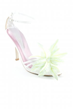 Buffalo London Strapped High-Heeled Sandals white-lime-green romantic style