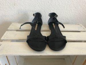 Buffalo London Sandalen, Lackleder, schwarz, Größe 38