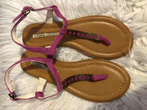 Buffalo London Sandalen pink Leder