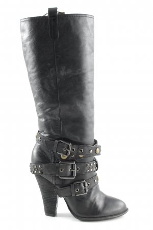 Buffalo London Schaftstiefel anthrazit Biker-Look
