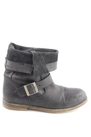 Buffalo London Slip-on Booties black casual look