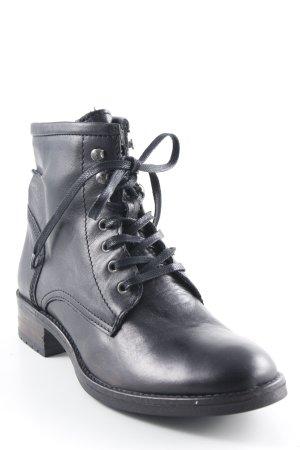 Buffalo London Schnür-Stiefeletten schwarzbraun Casual-Look