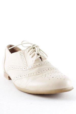 Buffalo London Chaussures à lacets rose chair Mélange de motifs