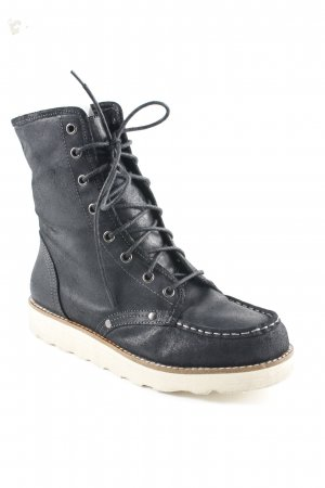 Buffalo London Schnürstiefel schwarz Casual-Look