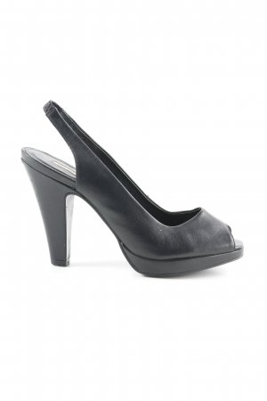 Buffalo London Slingback pumps zwart elegant