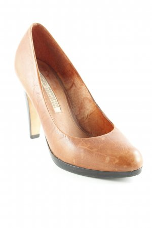 Buffalo London Spitz-Pumps cognac-dunkelbraun Used-Optik