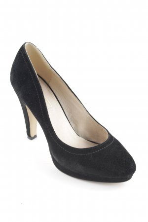 Buffalo London Spitz-Pumps schwarz-creme Business-Look