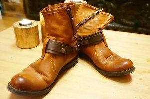 Buffalo London Slip-on brun cuir