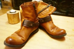 Buffalo London Slip-on Shoes brown leather