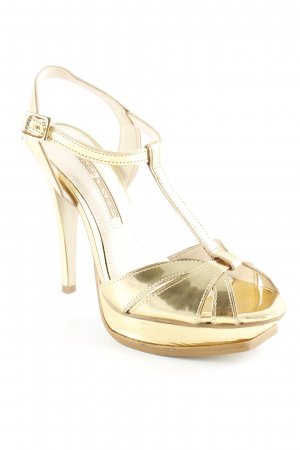 Buffalo London T-Strap Sandals gold-colored extravagant style