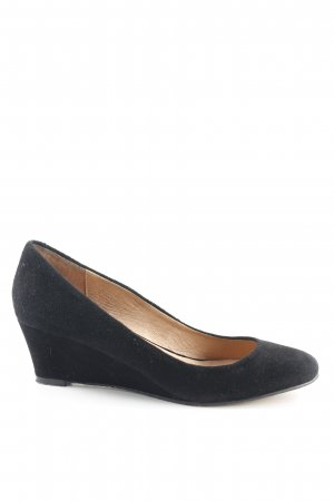 Buffalo London Wedges Sandaletten schwarz Elegant