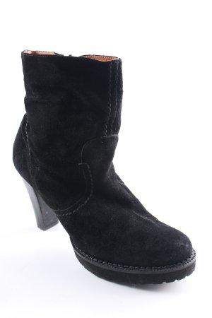 Buffalo London Winter-Stiefeletten schwarz Metallelemente