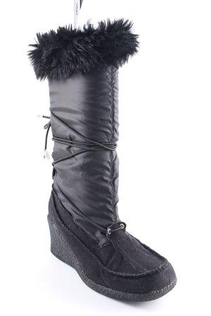 Buffalo London Winterstiefel schwarz-silberfarben Casual-Look