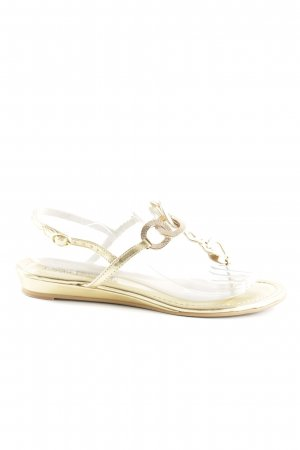 Buffalo London Zehentrenner-Sandalen goldfarben Casual-Look