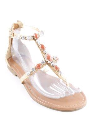 Buffalo London Sandalo toe-post oro stile Gypsy