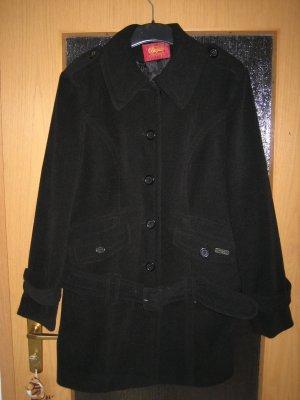 Buffalo Mantel mit Gürtel in Schwarz