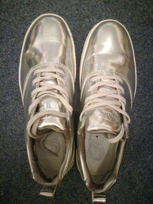 Buffalo Heel Sneakers silver-colored