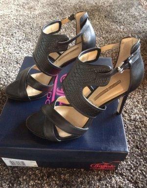 Buffalo Partyschuhe Sandaletten schwarz Gr. 40