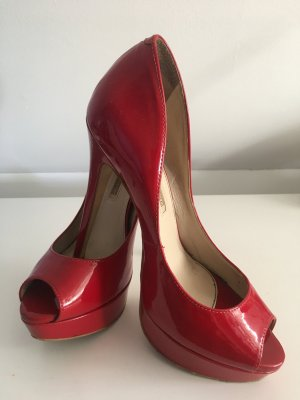 Buffalo Peeptoe Pumps