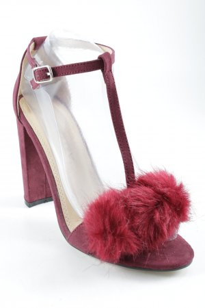 Buffalo Peeptoe Pumps bordeauxrot Party-Look