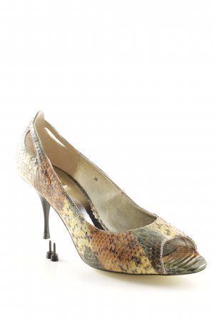 Buffalo Peeptoe Pumps Farbverlauf Reptil-Optik