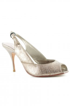 Buffalo Peeptoe Pumps goldfarben Casual-Look