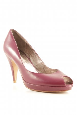 Buffalo Peeptoe Pumps purpur Elegant