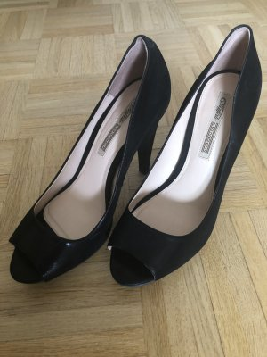 Buffalo Peep Toe Pumps black