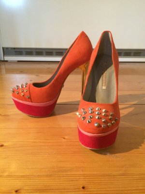 Buffalo Plateau-Pumps Orange Größe 38 NEU